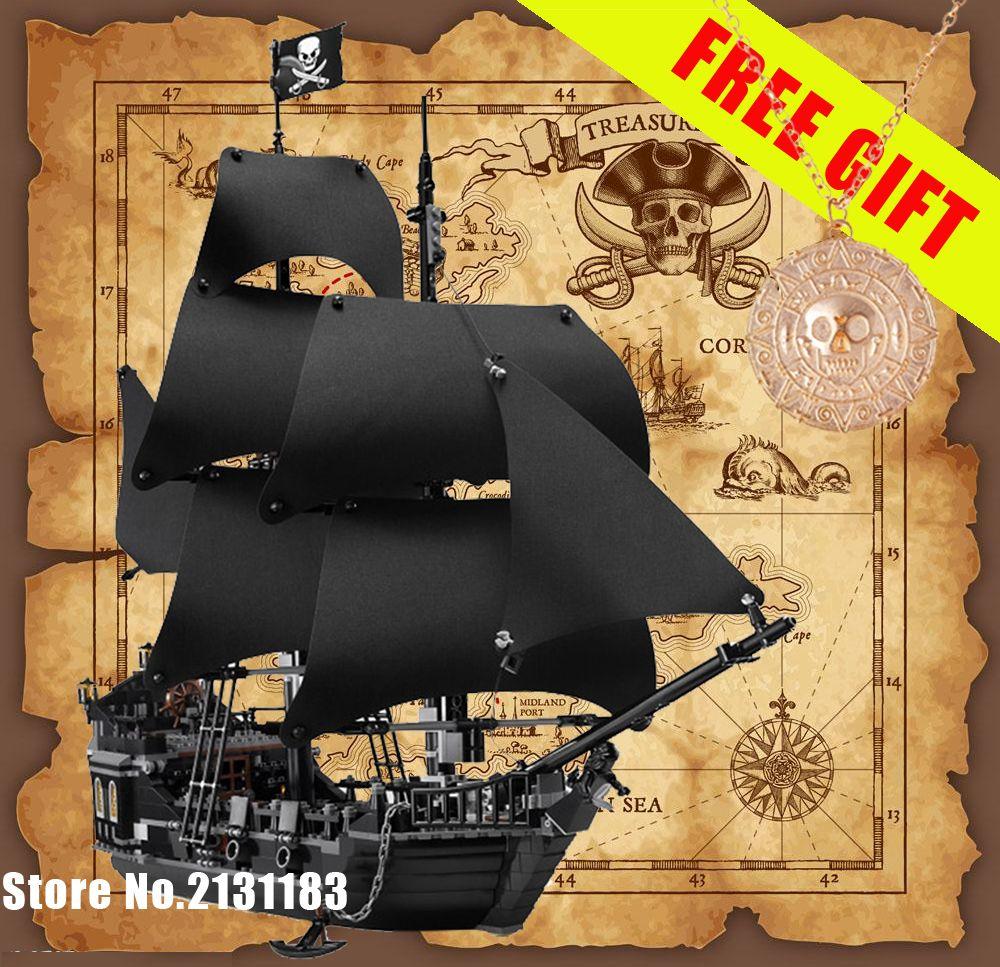 Pirates of the Caribbean Black Pearl Ship model toy bricks blocks SET kids GIFT