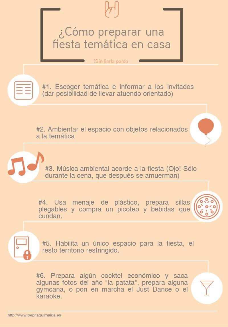 Infografía como hacer una fiesta en casa. Más en http://www.pepitaguirnalda.es/blog/ #party #sanvalentin #decoparty #fiestastematicas #fiesta