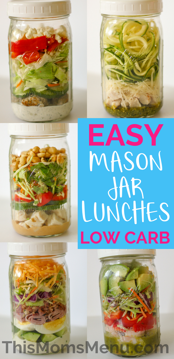 Easy Mason Jar Salads | Low Carb - This Mom's Menu