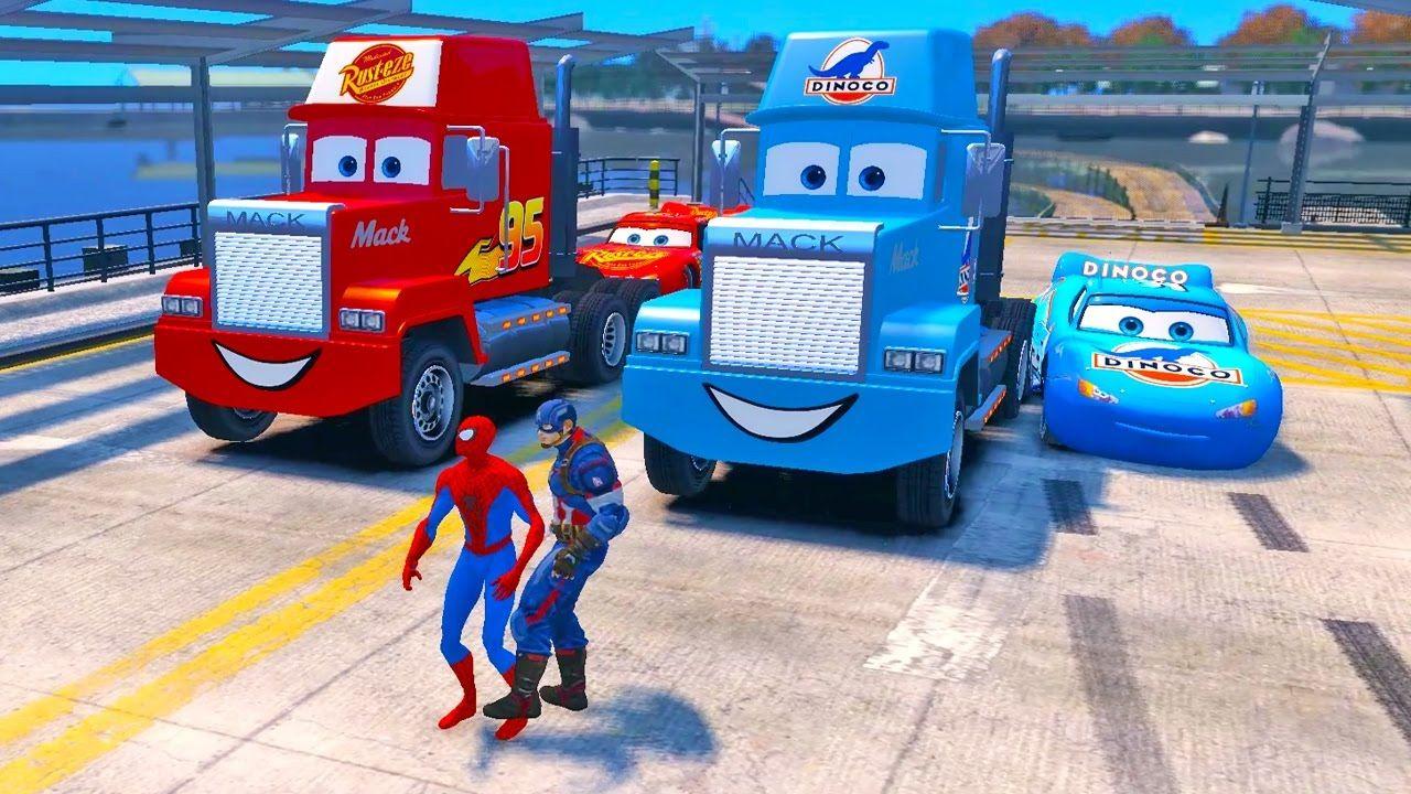 blue dinoco mack the truck disney cars lightning mcqueen