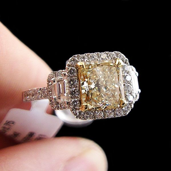 Explore Solitaire Engagement Rings And More! Fancy Yellow #Diamond ...