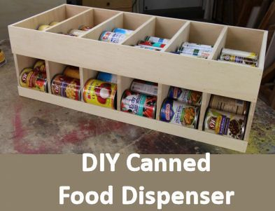 Diy Can Dispenser Woodworking For Mere Mortals Free Videos And Plans Get Organized Canned Goods