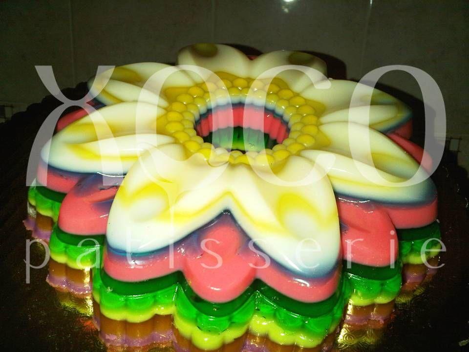 Colorida gelatina en Capas...
