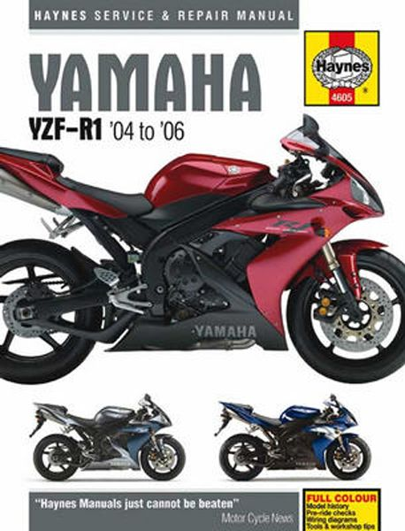 Haynes Yamaha Yzf R1 2004 Thru 2006 Repair Manuals Triumph 675 Yzfr1