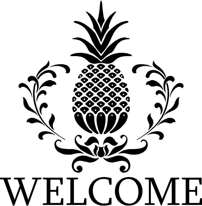 Welcome Pineapple Clip Art Welcome Pineapple 268101635