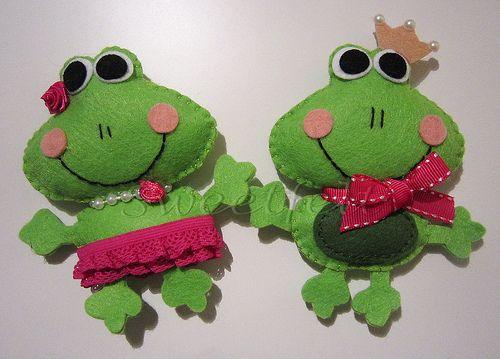 ♥♥♥ Sr. e Sra. Sapeko ... by sweetfelt \ ideias em feltro