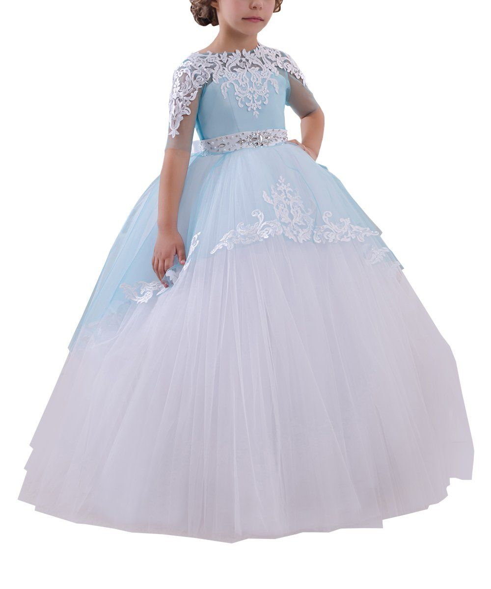 Holy Vestidos De First Communion Dresses White Blue Girls 1 14 Year Old Size 12 Soft Cotton Girls Fancy Dresses Girls Communion Dresses Kids Formal Dresses [ 1200 x 1000 Pixel ]