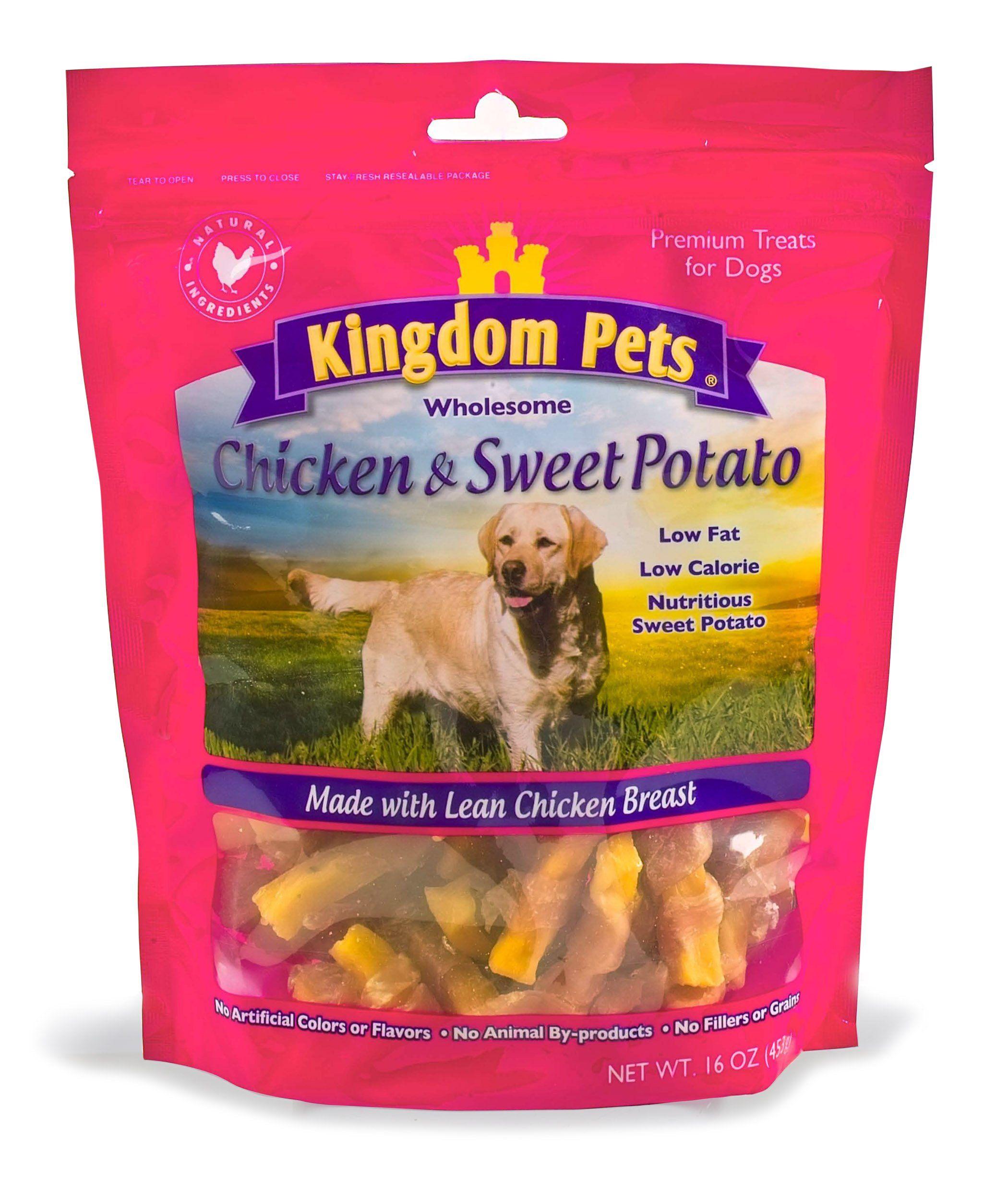 Kingdom Pets Premium Dog Treats Chicken and Sweet Potato
