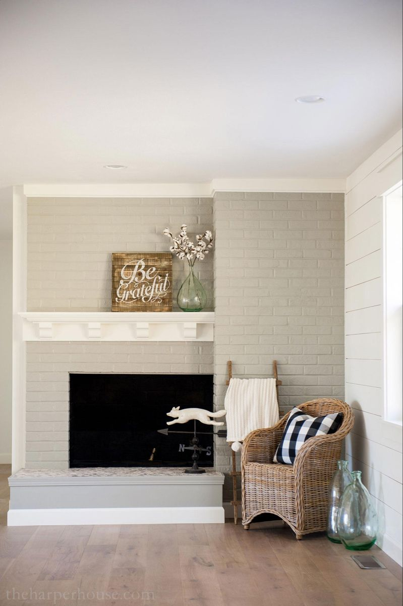 Brick Fireplace Makeover You Won't Believe the After
