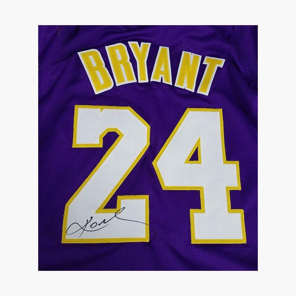 'Kobe Bryant 24 Lakers Jersey Basketball' Photographic