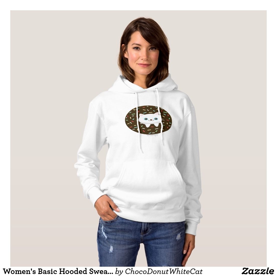 2d11a0c3d9f06c AD Women s Basic Hooded Sweatshirt