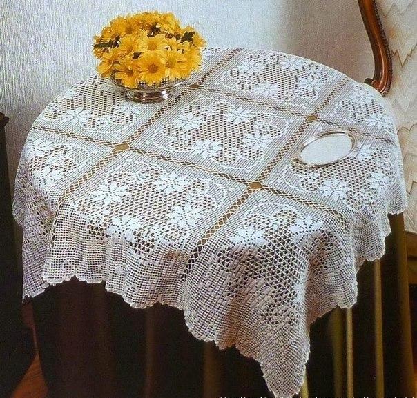 прямоугольная скатерть на стол филе схемы