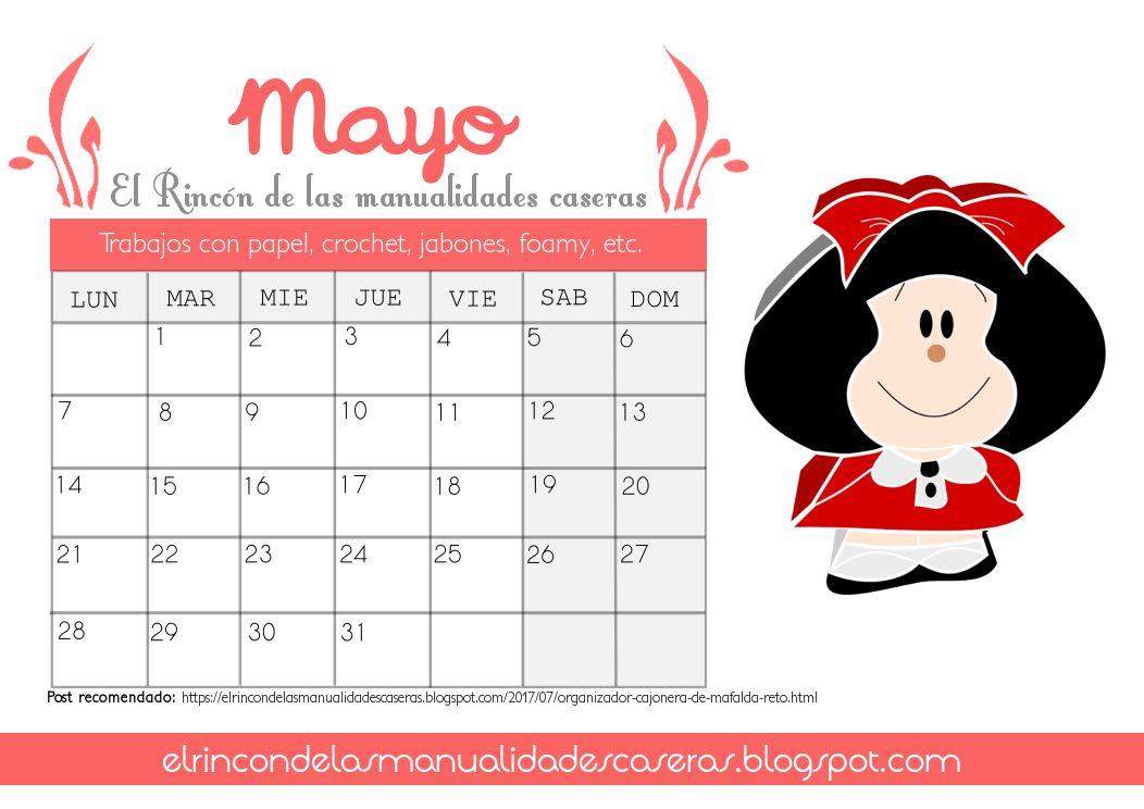 Calendario Mayo 2018 | Imprimibles para descargar | Pinterest