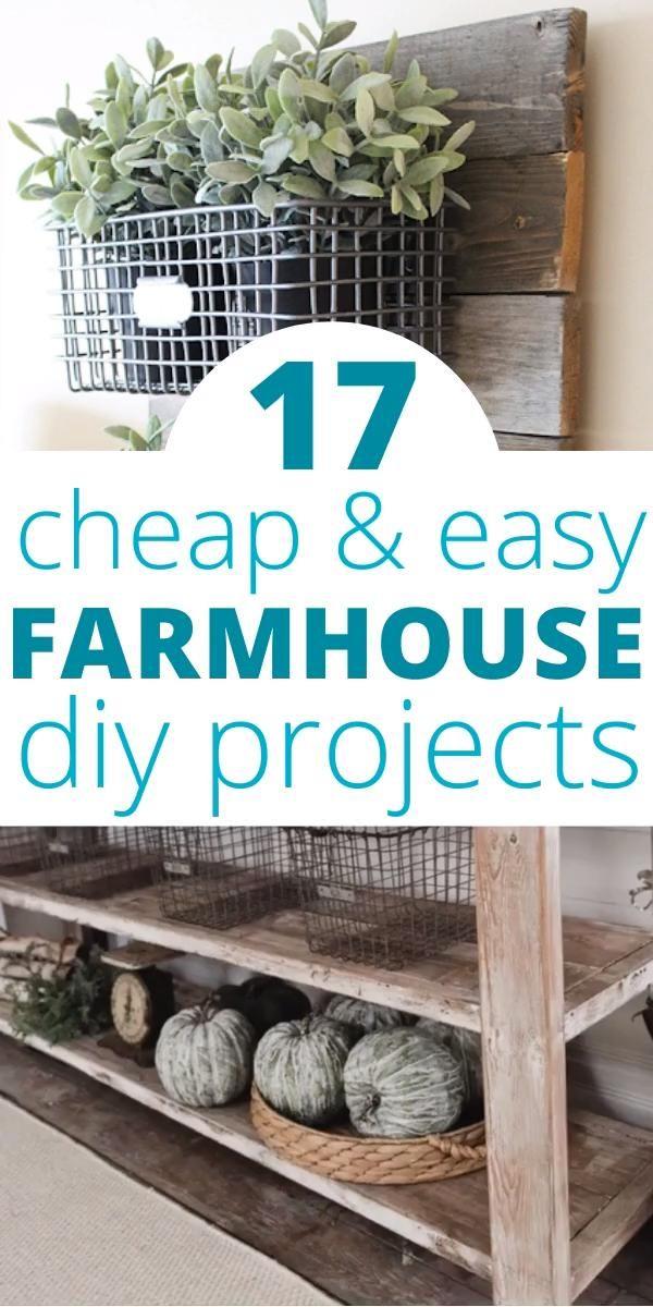 Photo of 17 Easy DIY Farmhouse Decor Projects