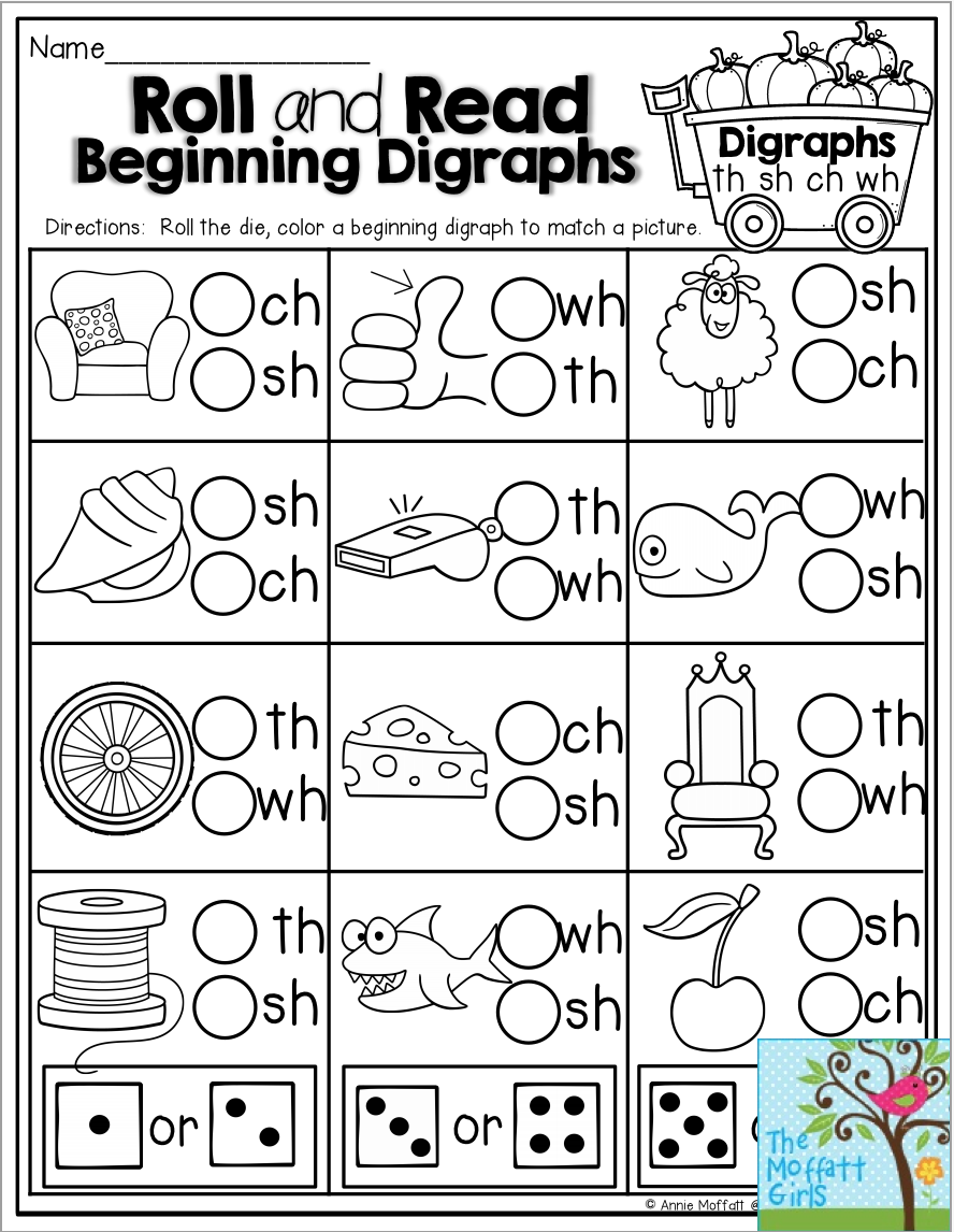 Roll And Read Beginning Digraphs Fun Activity For Beginning And Struggling Readers In Kindergarten Writing Activities Kindergarten Writing Writing Activities [ 1146 x 888 Pixel ]