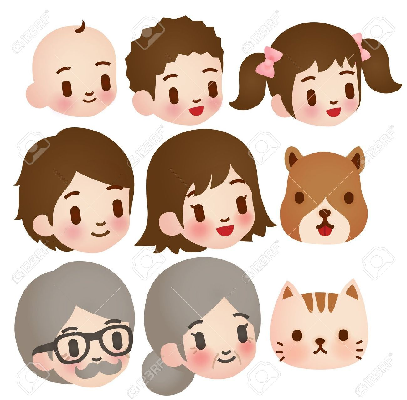 Cute Character Design Illustrator : Cute character face family illustration google search
