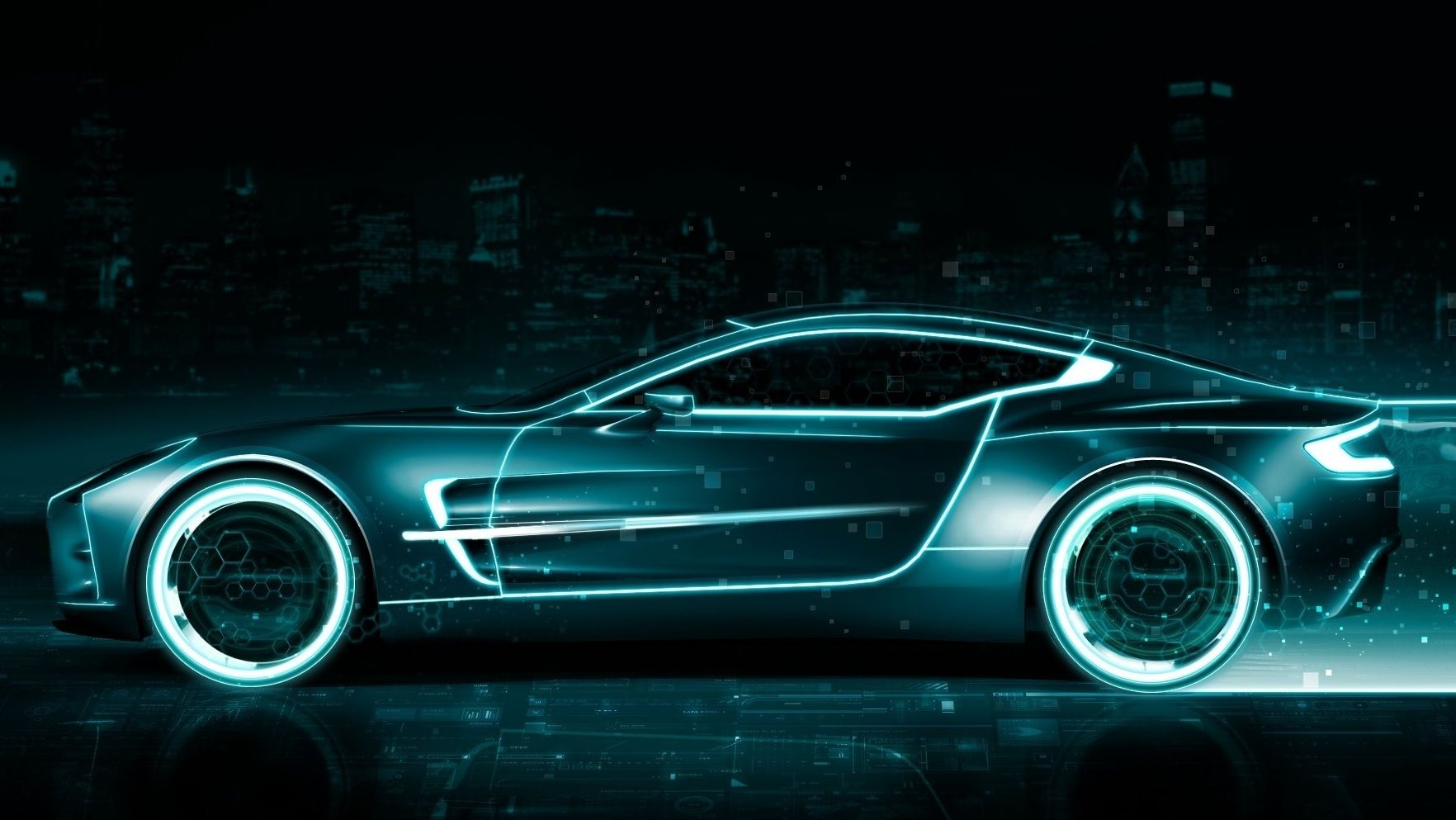 Neon Car Lights: Neon Car, Cars And Planes