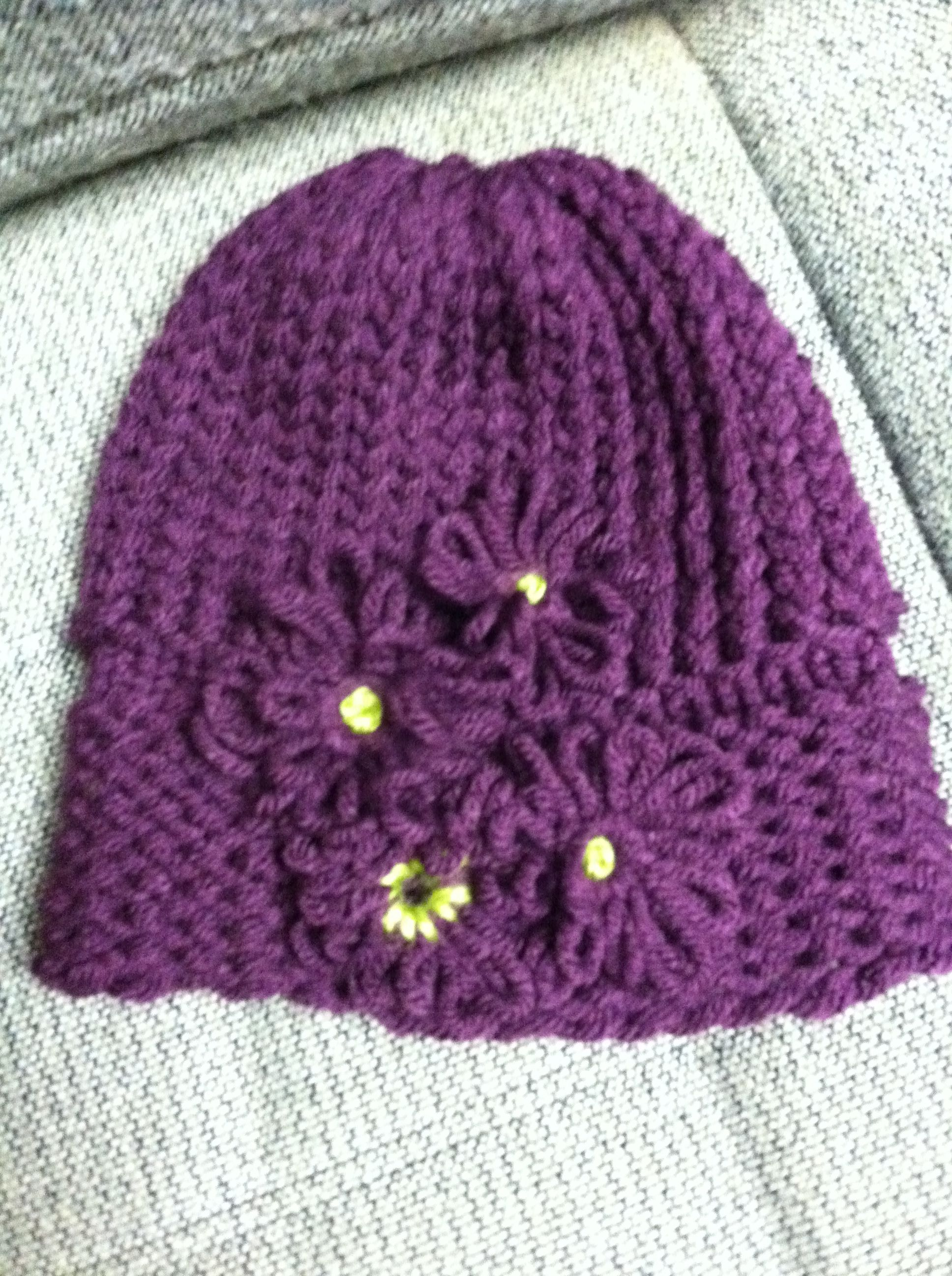 Loom Knit Baby Hat Pattern Free : Loom knitted hat knitting pinterest knit