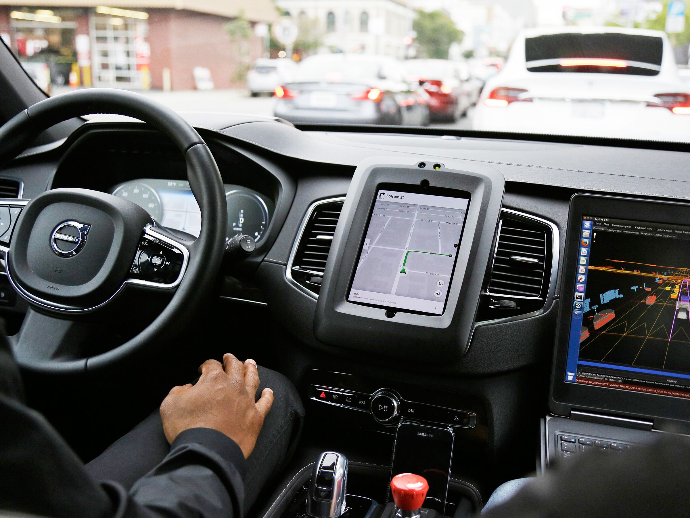 Securing Driverless Cars From Hackers Is Hard. Ask the Ex-Uber Guy Who Protects Them | An Uber driverless car during a test drive in San Francisco. | Credit:Eric Risberg/AP | From WIRED.com