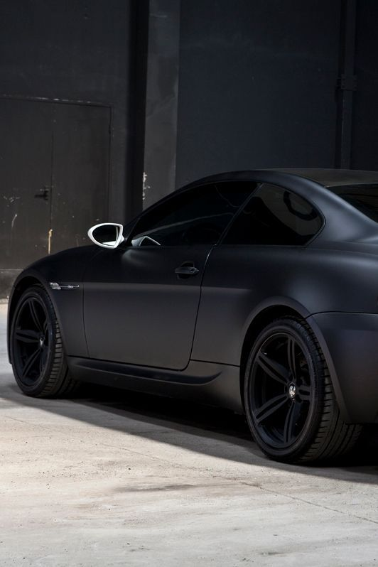 Matte Black - BMW Series 6 I don't usually like the matte look but this is a sexy car!