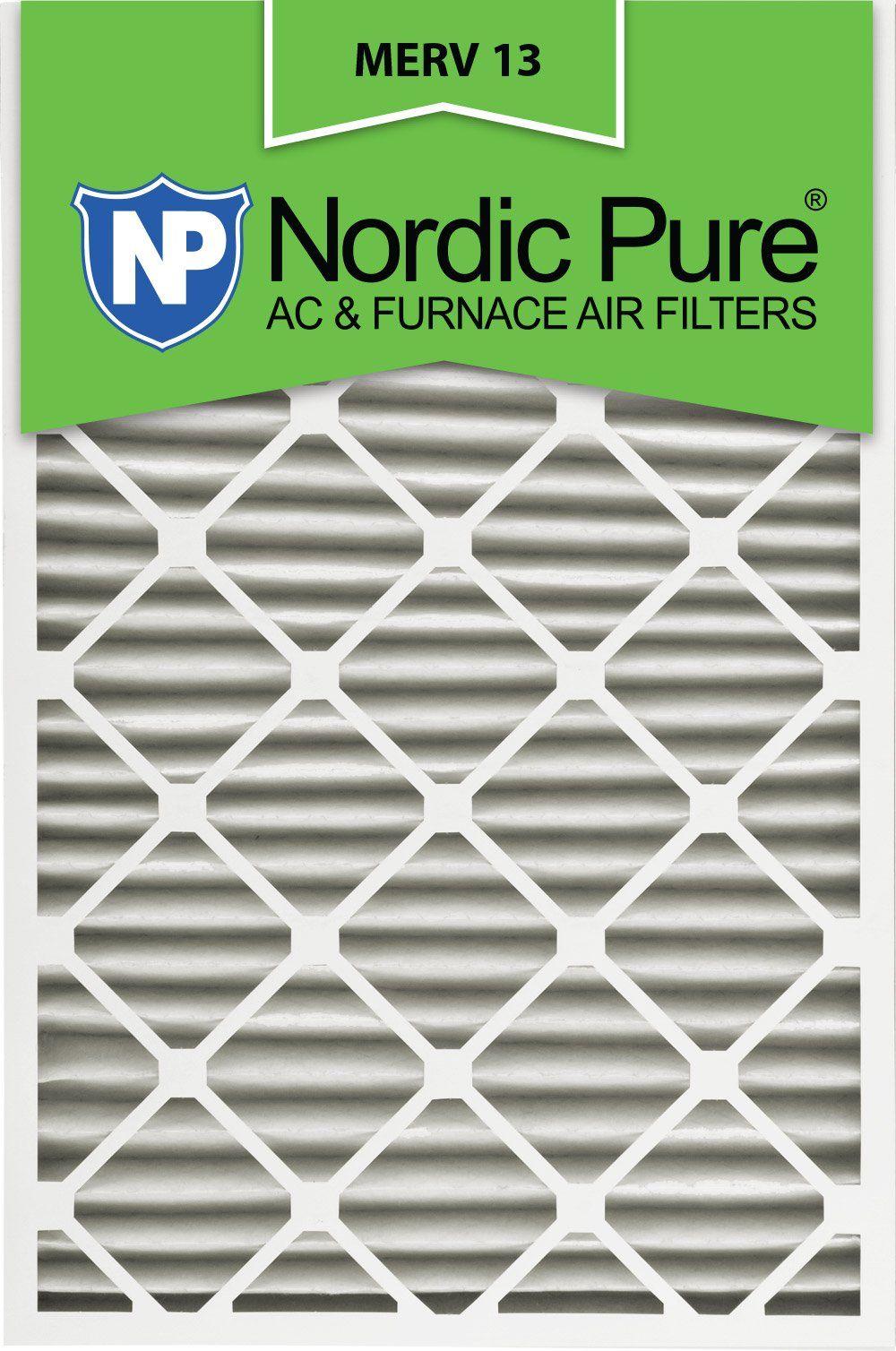 Nordic Pure 24x30x2M133 24x30x2 MERV 13 Pleated AC Furnace