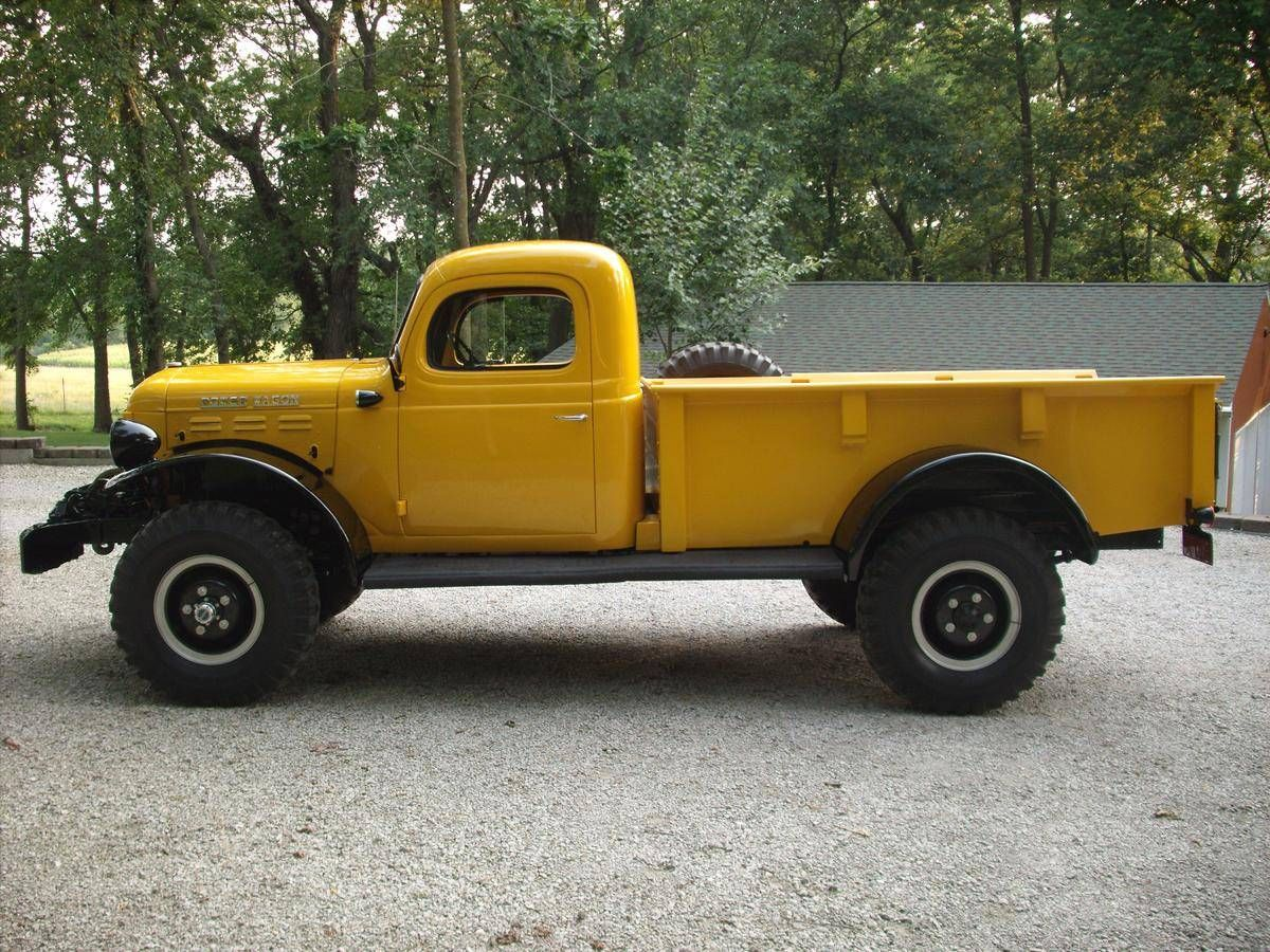 1949 dodge everything dodge ram dodge power wagon, pickup trucks1944 Dodge Power Wagon Custom Pickup Side Profile 190374 #7