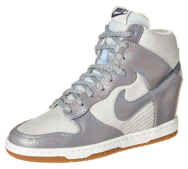 Nike Sportswear DUNK SKY HI Bottines compensées argent ...