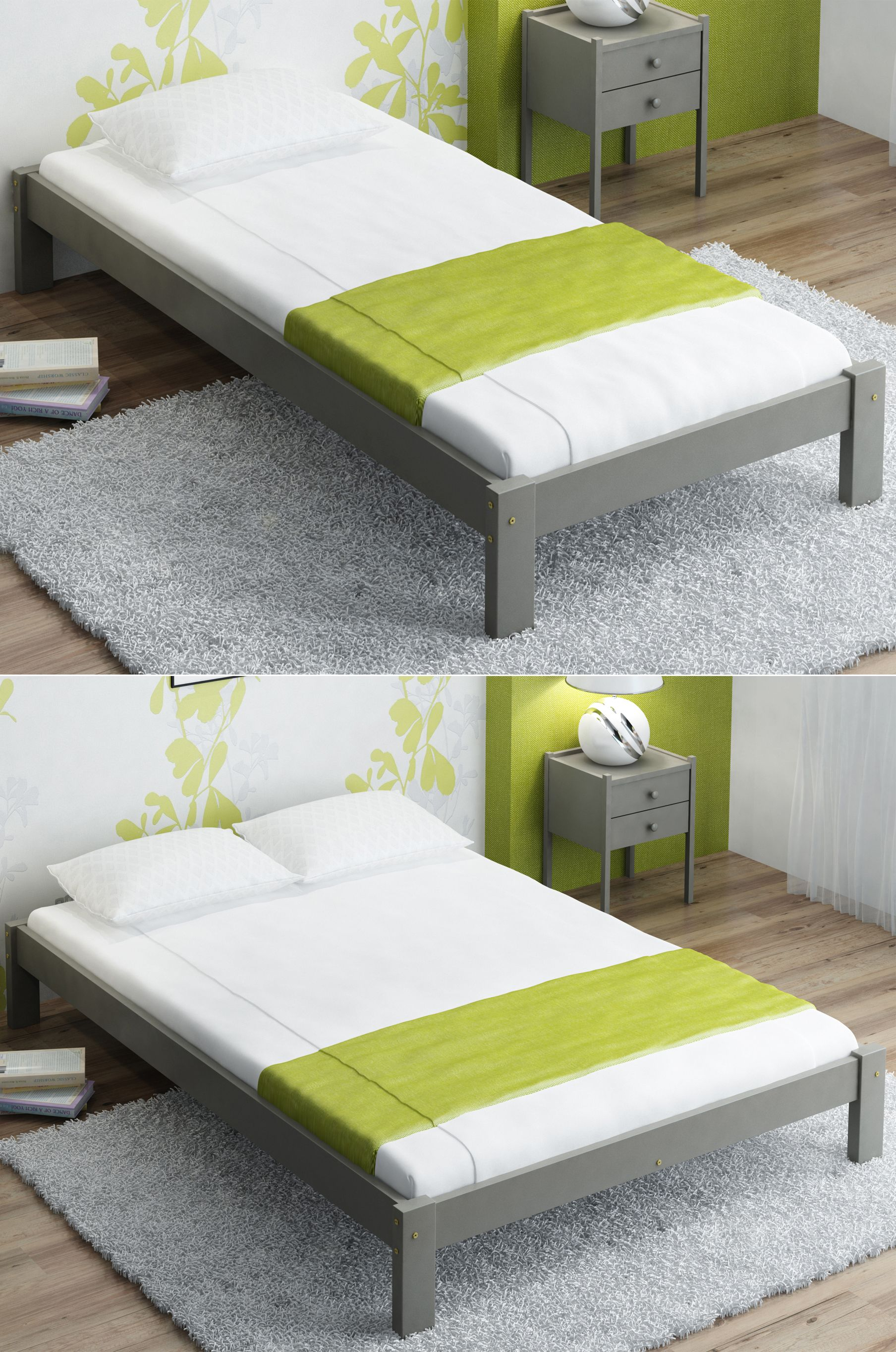 Bed Frame Without Headboard Is A Great Solution For Small Or