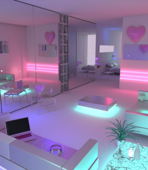 Siren of the dead sea vaporwave room pinterest - Leave you dead in the living room ...