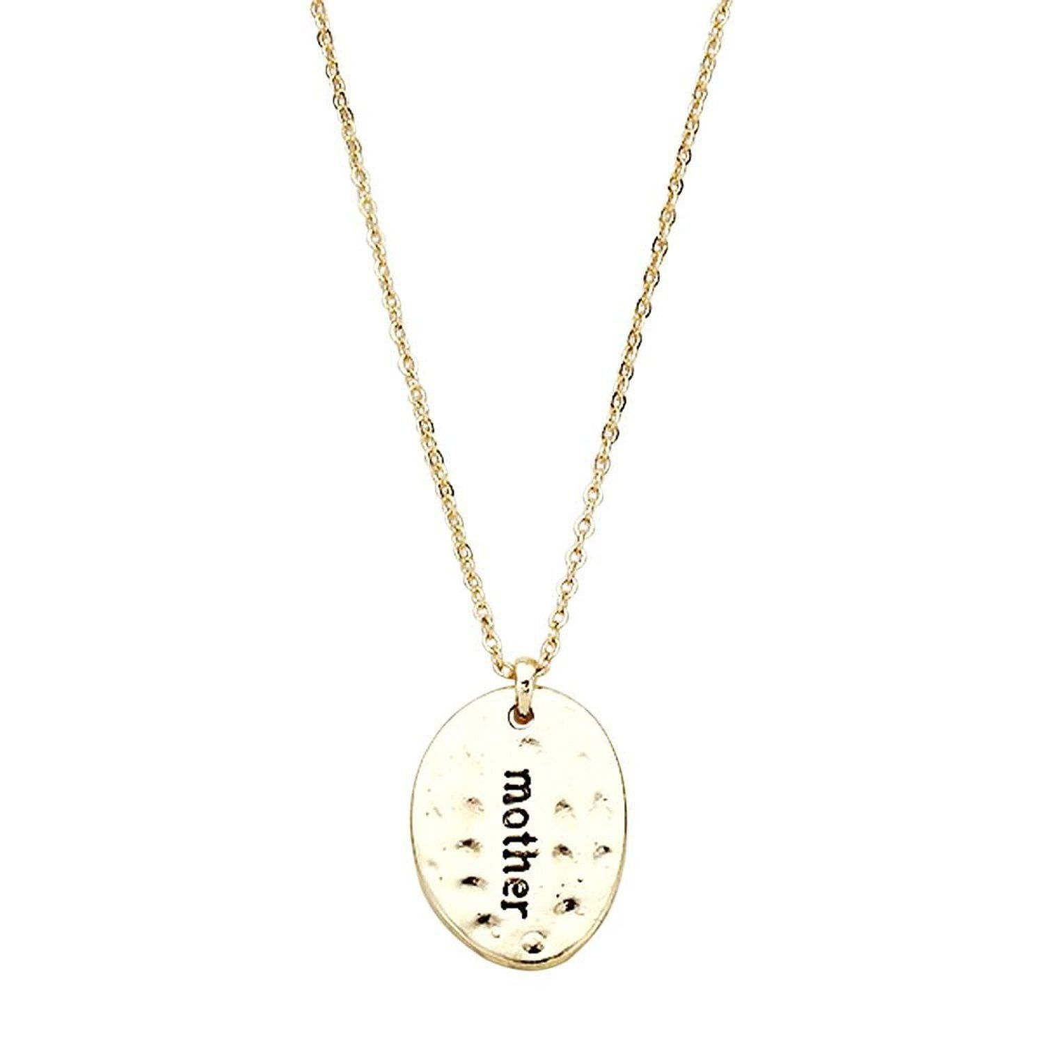 Mother gold tone oval pendant necklace pendants and products