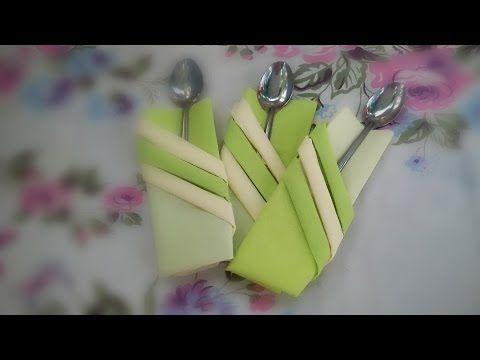 PLIER Une SERVIETTE| Décorer Une Table | PORTE COUVERTS | Pliage Facile à  Réaliser :)   YouTube