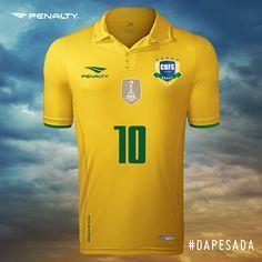 Camisas da Seleção Brasileira de Futsal 2016 Penalty  b0506ae8319b3