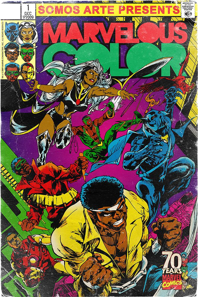 We Are Wakanda Marvel Coloring Vintage Cartoon Comic Books Art