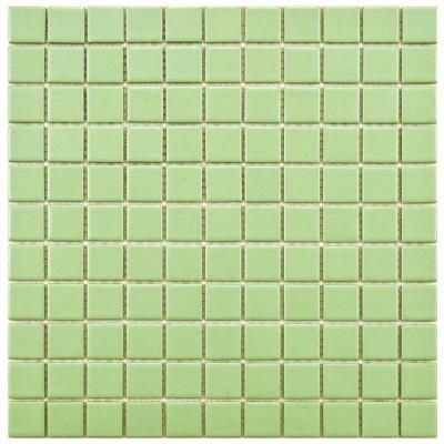 Merola Tile Metro Square Matte Light Green 12 In. X 12 In. X 5 Mm Porcelain  Mosaic Floor And Wall Tile (10 Sq.ft./case) FXLMS1GR At The Home Depot