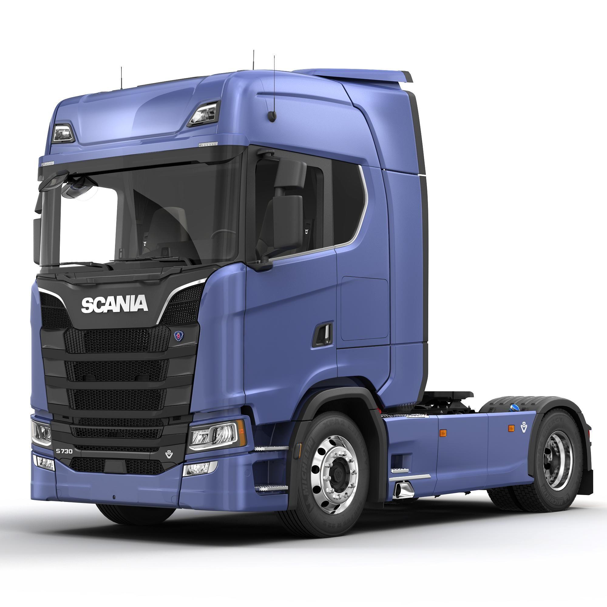 Scania S730 Semi Truck 3d Model Ad Scania Semi Model Truck