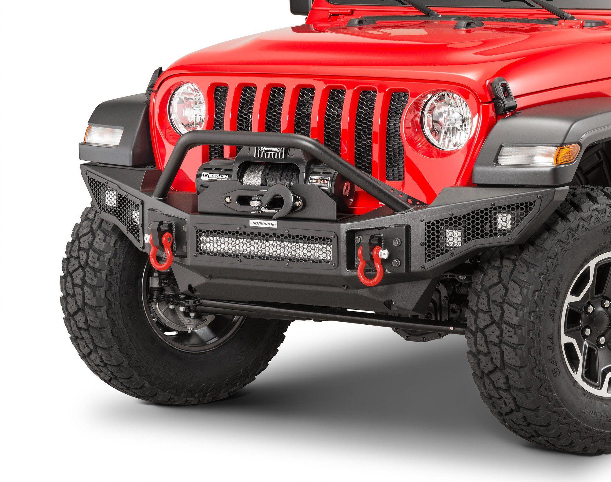 Go Rhino 331201t Rockline Winch Ready Front Bumper With Overrider