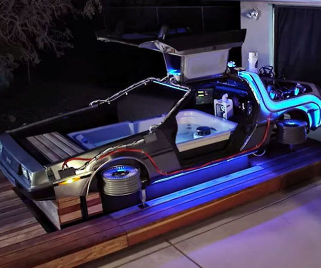 Delorean Hot Tub Time Machine With Images Hot Tub Time Machine