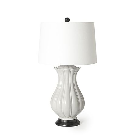Our Kelly Table Lamp Combines Femininity And Clean Lines For A Striking Effortless Design The Delicate Curves And Fluted Detailing Table Lamp Lamp Desk Lamps