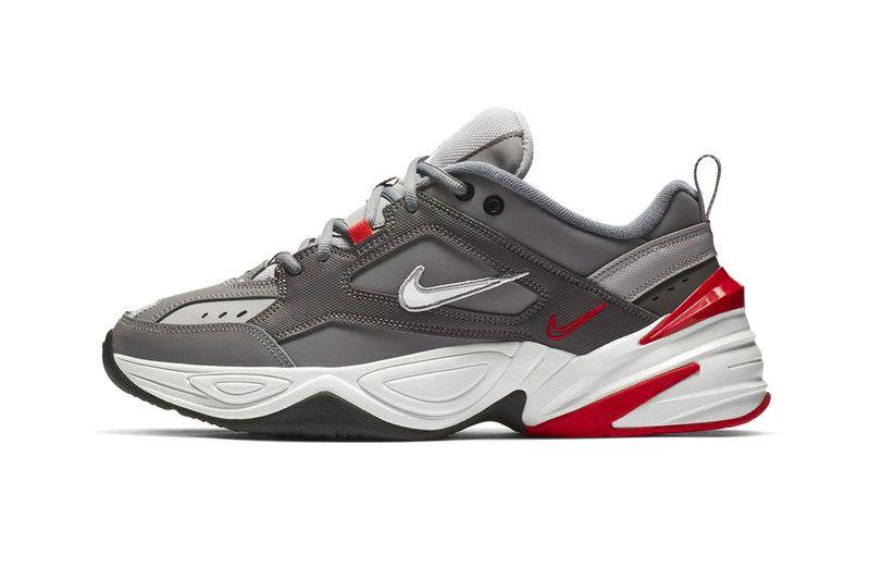 Nike M2k Tekno Steps Out In Gunsmoke University Red