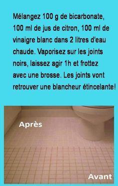 Comment Nettoyer Vos Joints Et Vos Carrelages De Maniere Naturelle Comment Nettoyer Nettoyant Produit De Nettoyage Faits Maison