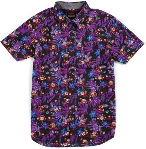 dbd38f79 Vans Nintendo Donkey Kong Camp Hawaiian Button Front Shirt Men's Sz ...