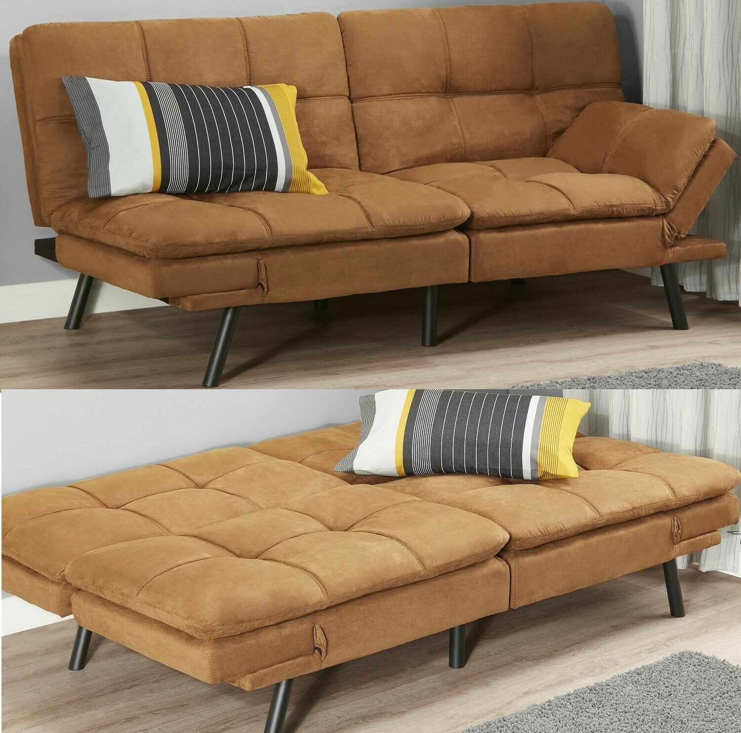 Sleeper Sofa Bed Suede Convertible Couch Modern Futon Living Room Loveseat Sofa Living Modern Couches Living Room Classic Sofa Living Room Futon Living Room