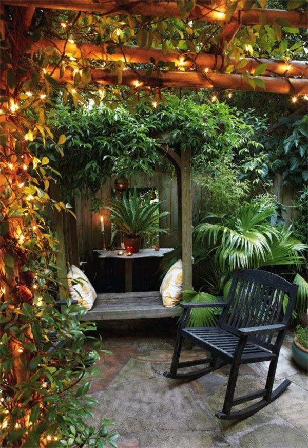 gartenideen für kleine gärten schöne beleuchtung | garden, Garten und erstellen