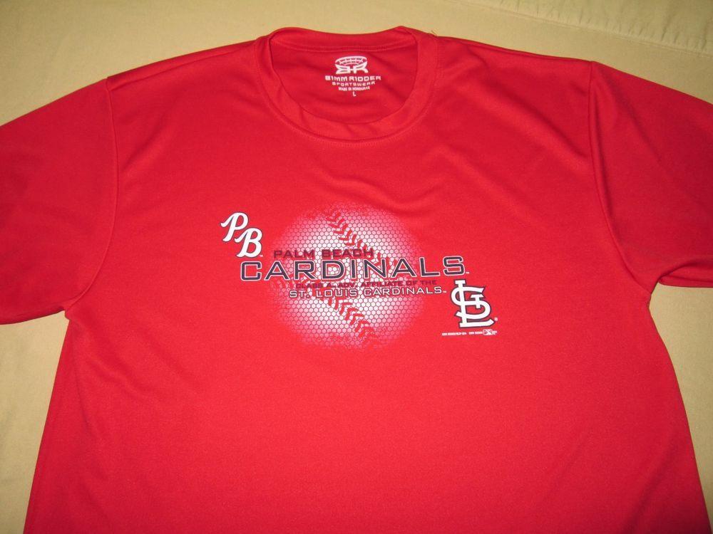 0f2b7734 Team Issue PALM BEACH CARDINALS Minor League Baseball T Shirt L - Red - st  louis #BimmRidder #PalmBeachCardinals
