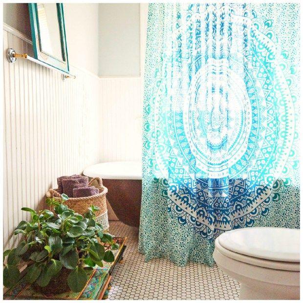 Mandala Shower Curtain - Where To Buy | Bohemian Decor | Pinterest ...