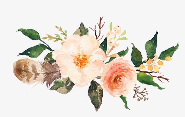 Pink Flowers Free Watercolor Flowers Watercolor Flowers Flower Frame