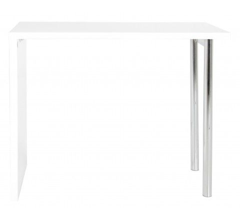 932f0d186cb89d Table de bar blanc laqué Donatello   Table haute cuisine