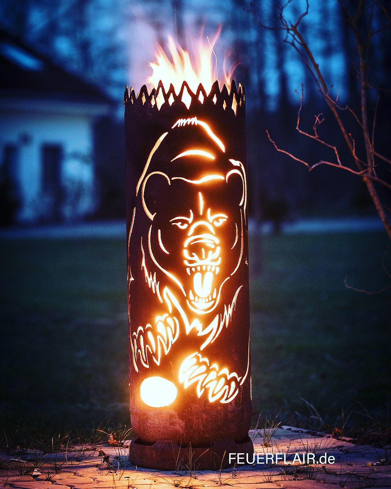 Feuertonne Grizzlybar Feuertonnen Metallfeuerstelle Feuerstelle Garten