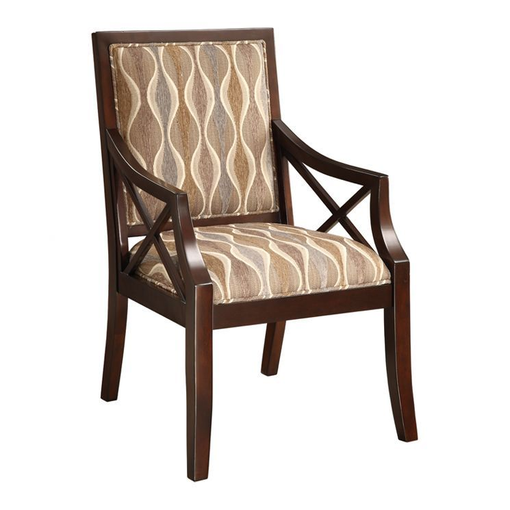 Cowries Arm Chair In Espresso Accent Chairs Furniture