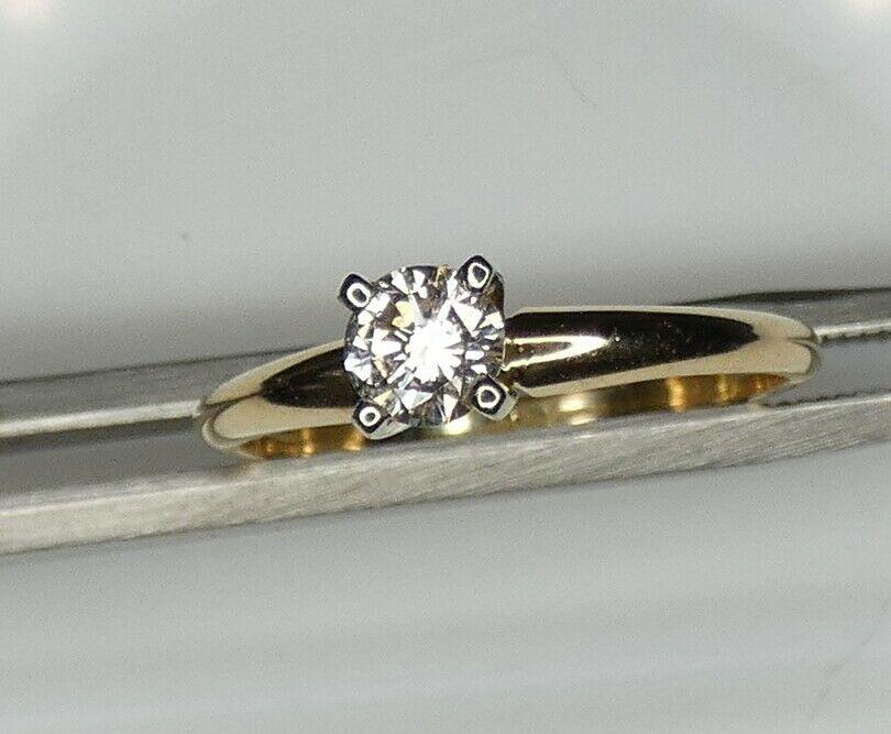 Details About 1 3 Carat 14k Gold 30 Carat Diamond Engagement Ring Size 6 Princess Diamond Engagement Rings Round Diamond Engagement Rings Yellow Gold Round Diamond